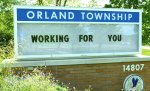 Orland Township sign