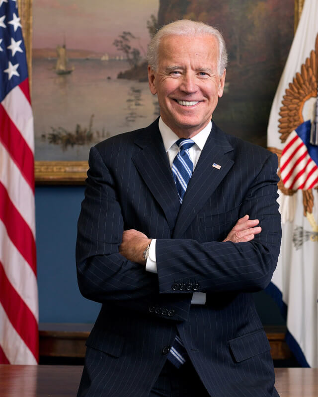 Joe Biden, the 46th President of the United States sworn in on Jan 20, 2021. Photo courtesy of Wikipedia