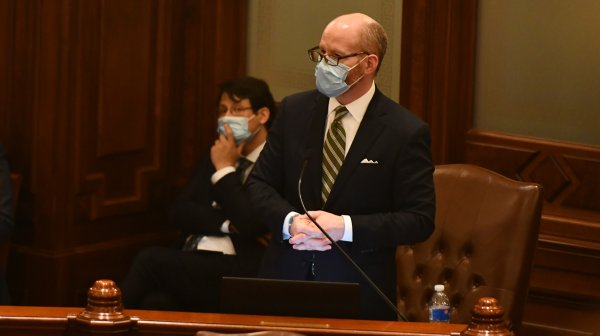 Members of The Illinois Senate approve a new budget in the wake of the coronavirus May 23, 2020. Photo courtesy of The Illinois Senate