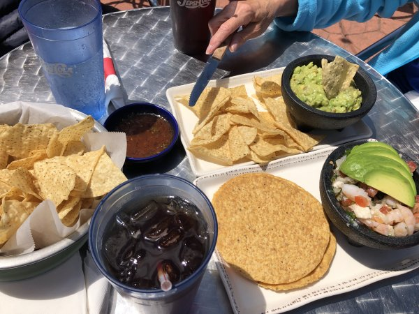 Casa Margarita, 9549 W. 151st St in Orland Park offers a wide selection of Mexican food. This is plates of Guacamole and Ceviche with extra thin taco chips. Photo courtesy of Ray Hanania