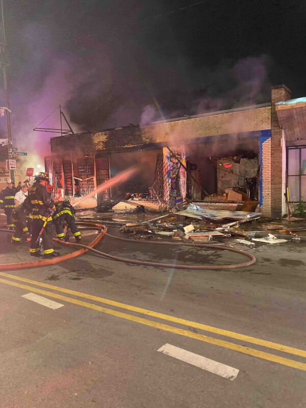Store destroyed by looters and arsonists who participated in the Black Lives Matter protests in Chicago at the end of May 2020. Chicago Mayor Lori Lightfoot has abandoned victims of looting along with the members of the Chicago Police Department. Photo courtesy Ray Hanania
