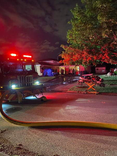 Garage Fire on the 15200 block of Woodmar Drive. Photo courtesy of the Orland Fire Protection District