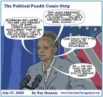 The Political Pundit Comic Strip 07-27-20 Mayor Lori Lightfoot hypocrisy, attacks FOP, Ald. Lopez and then calls for civility