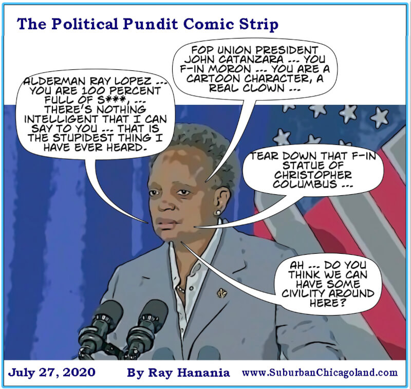 The Political Pundit Comic Strip lampoons Mayor Lightfoot