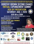 Dorothy Brown expungement summit Aug 1 2020