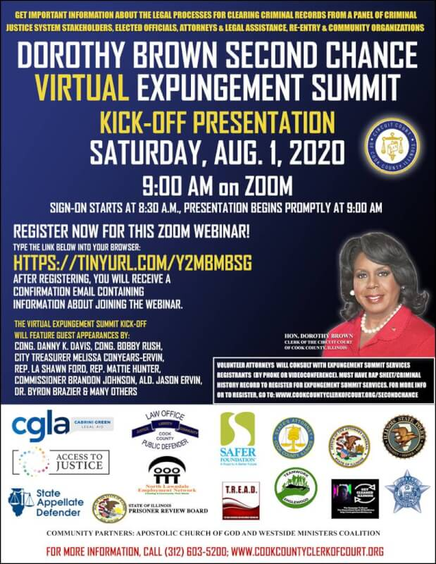 Circuit Clerk Brown hosts virtual expungement summit