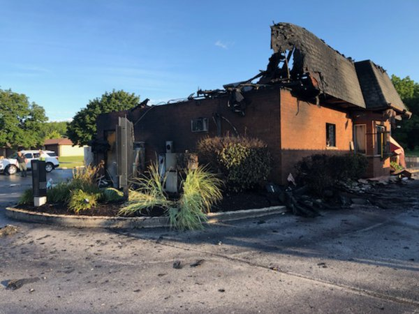 Don's Hot Dogs destroyed by fire Wednesday July 29, 2020. Photo courtesy of the Orland Fire Protection District