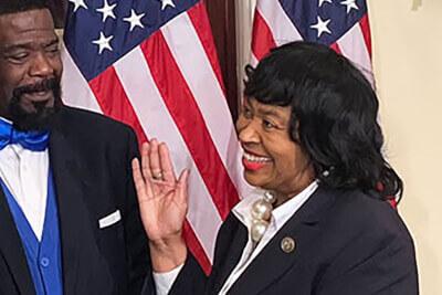 Detroit City Council President Brenda Jones challenges Rashida Tlaib int he Aug. 4, 2020 Democratic Primary