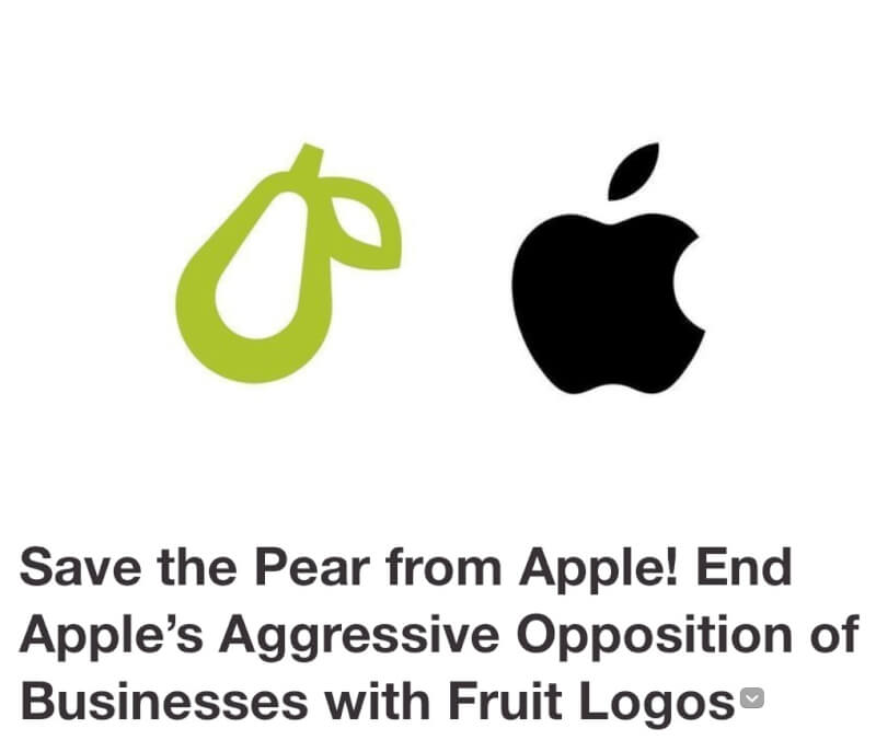 Apple bullies sue company for using a fruit as its logo