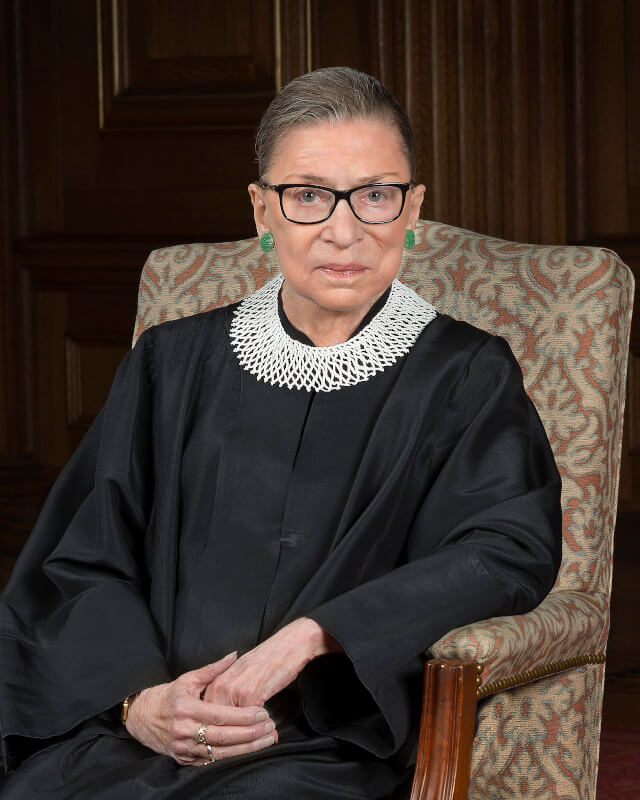 Ruth Bader Ginsburg, Justice of the U.S. Supreme Court. Photo courtesy of WIkipedia