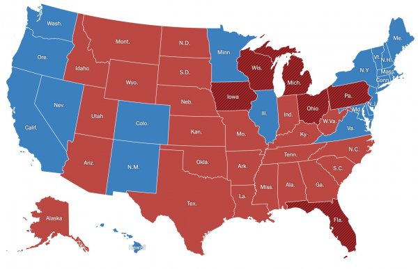 Battleground States November 3 2020