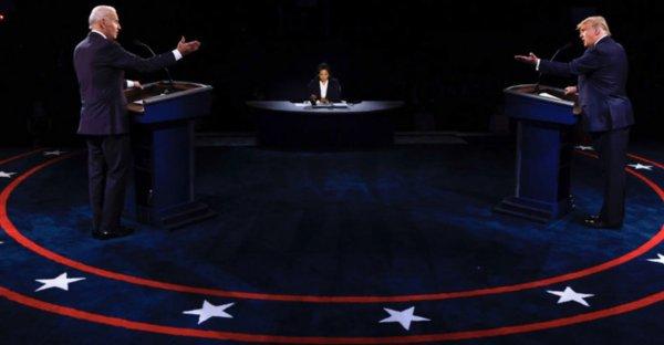 Trump Biden Debate photos courtesy of the Arab News
