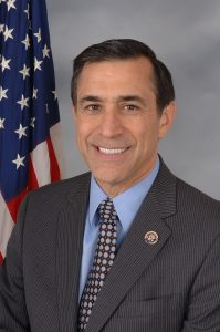 Arab American U.S. Congressman Darrell Edward Issa, announced on Jan. 10, 2018 that he will not seek re-election. Photo courtesy of Wikipedia