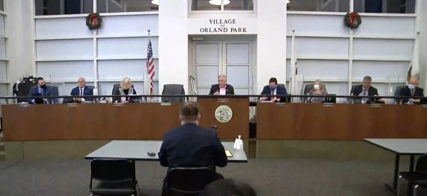 The Village of Orland Park board divided over wearing face masks. Image courtesy of the Village of Orland Park