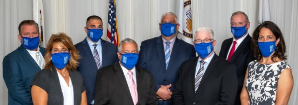 Officials at Orland Township wear face masks to help protect the residents of the community and they encourage the public to wear face masks. Photo courtesy of Orland Township