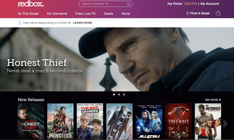 Redbox lists top movie rentals and streams for 2020