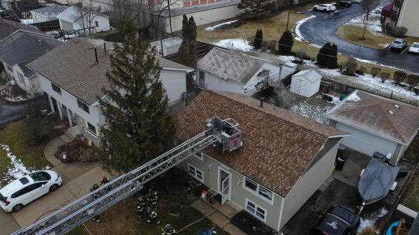 Orland Fire Protection DIstrict responds to house fire on the 16000 block of Haven Ave. in Orland Park. Photo courtesy of the Orland Fire Protection DIstrict