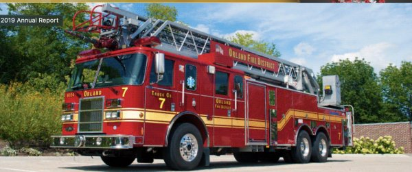 Fire Truck, Fire District. Photo courtesy of the Orland Fire Protection District