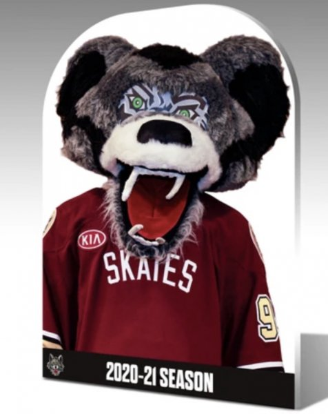 Chicago Wolves personalized cut-outs. Purchase by going online at https://chicagowolvesstore.com/products/chicago-wolves-fan-cutout