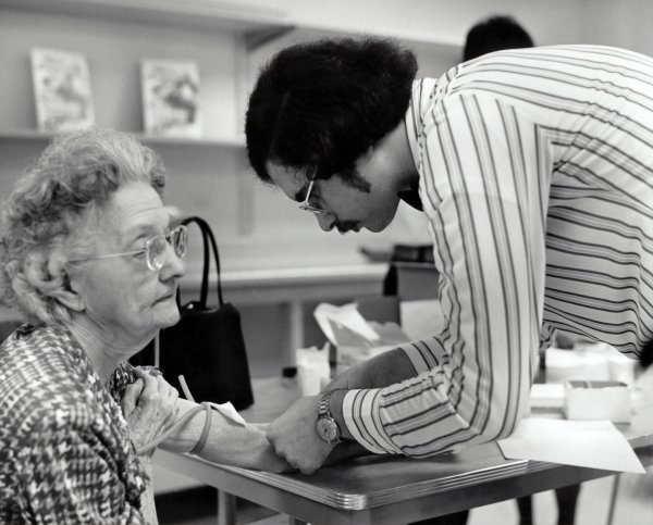 Seniors receiving vaccinations and medical care by doctors. Photo courtesy of the CDC and Unsplash. Coronavirus, COVID-19, pandemic