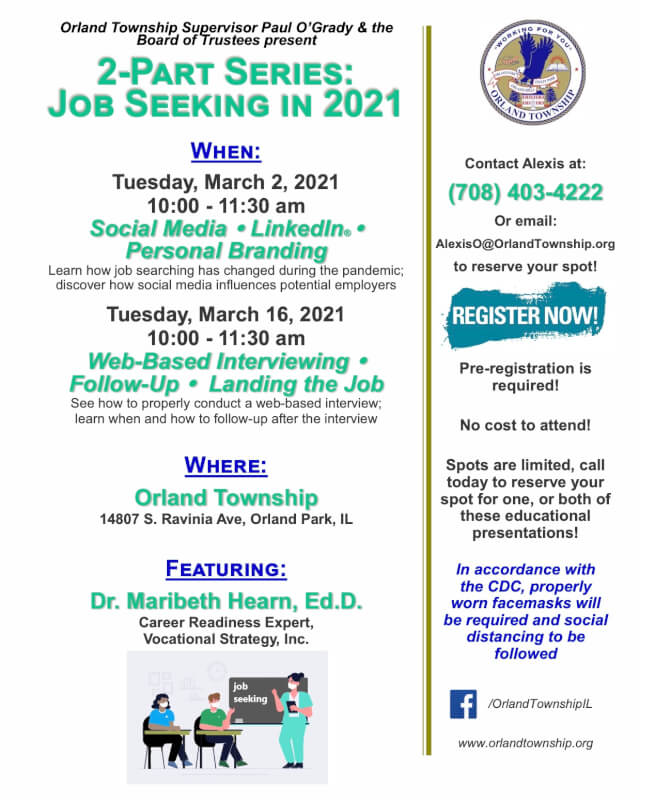 Orland Township Presents Seminars for Job Seekers