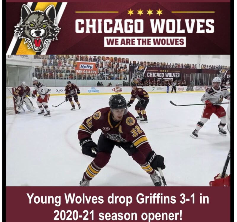 Young Wolves seize opener with 3-1 win over Griffins
