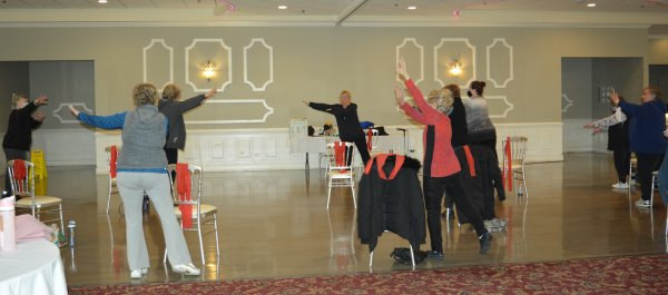 Orland Township seniors are happy to get back to their favorite Township fitness classes, including Strong and Fit. Photo courtesy of Orland Township