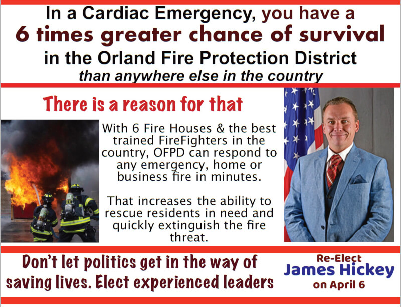 Jim Hickey seeks re-election to Orland Fire Protection District
