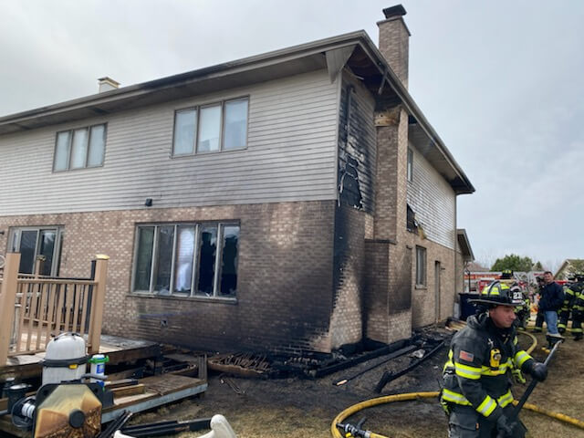 House fire at 13900 block of Springview, Orland Park: no injuries