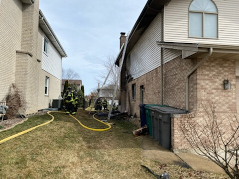 The Orland Fire District responded to a reported house fire on Sunday, March 14th, 2021  at approximately 1:37 pm located in the 13900 block of Springview in Orland Park.