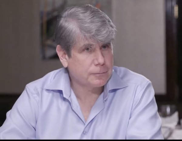 Disgraced former Illinois Governor Rod Blagojevich appears in a commercial endorsing the Orland Residents for Responsible Government (ORRG) slate challenging Orland Township Supervisor Paul O'Grady. Photo from video