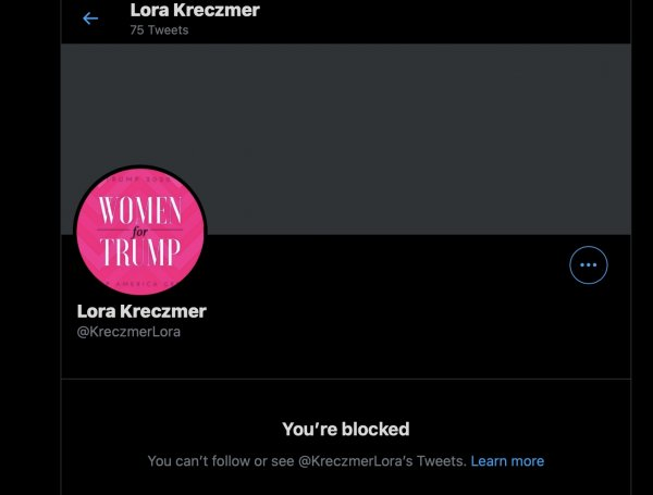 Lora M. Kreczmer blocks me from Twitter after inquiring about an outstanding arrest warrant from he Chicago Ridge Police Department.