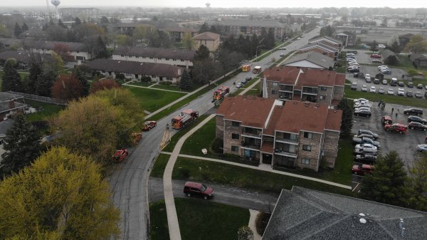 Home fire at 7300 block of 157th Street, Orland Park. April 21, 2021. Photo courtesy of the Orland Fire Protection DIstrict