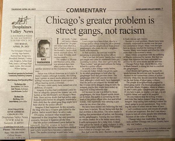 04-29-21 Chicago probem gangs not race column