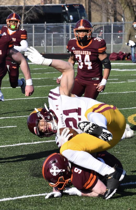 Loyola rambles to win