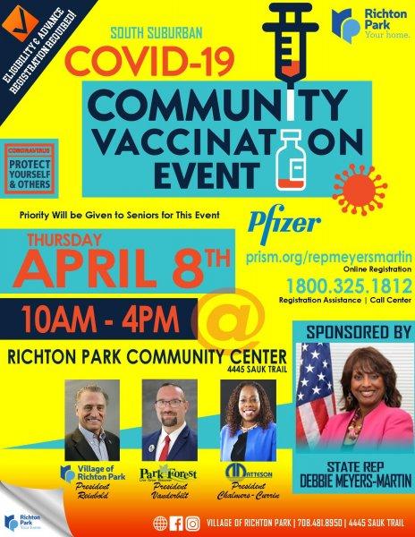 Richton Park Vaccine Event 4.8.21