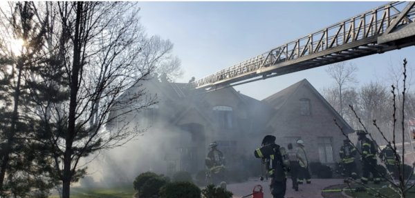 The Orland Fire Protection District received multiple 911 calls at approximately 4:22 PM on Saturday (April 3, 2021). for a house fire located in the 15500 block of 116th Court. Photo courtesy of the Orland Fire Protection District