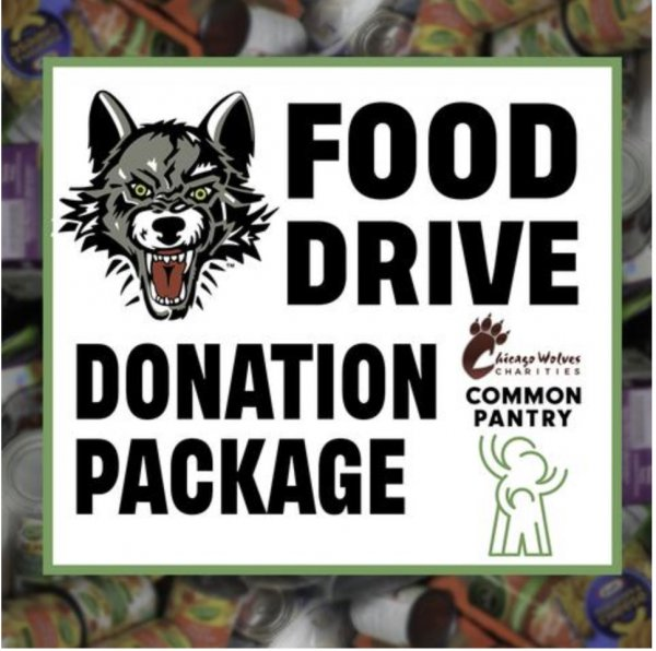 Chicago Wolves Food Drive