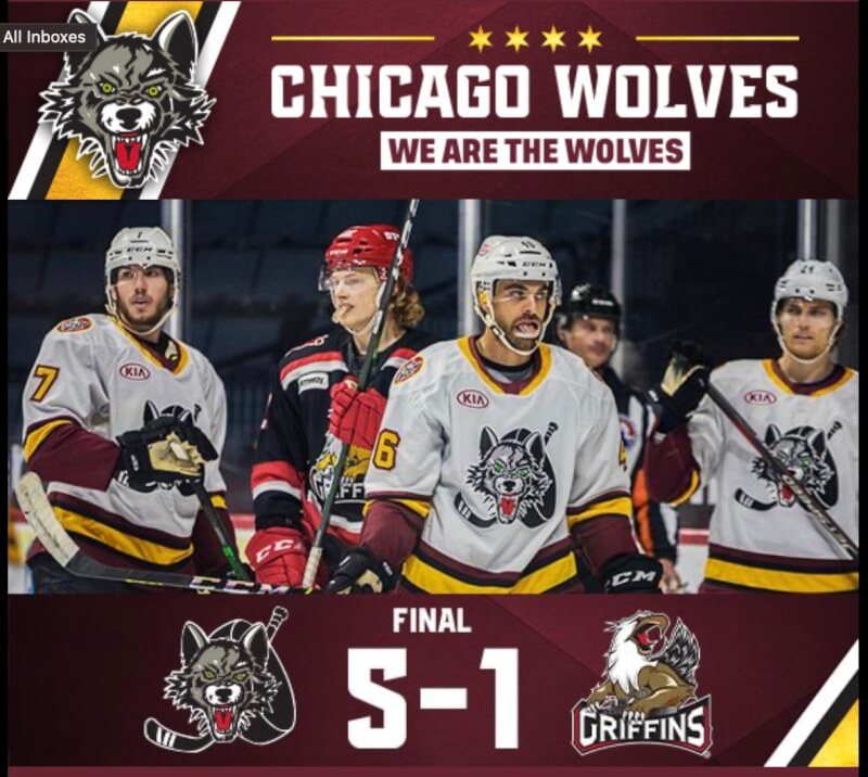 Wolves rocket to victory against Grand Rapids Griffins