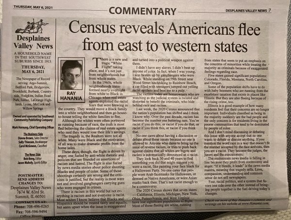 Census shows population fleeing from states overwhelmed with crime, welfare-based taxation and high taxation. Published in the Southwest News Newspaper Group May 5, 2021