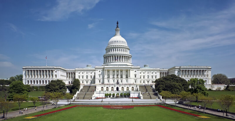 The U.S. Congress, west view, courtesy of Wikipedia