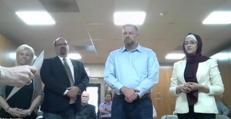 Palos Township swears in new board