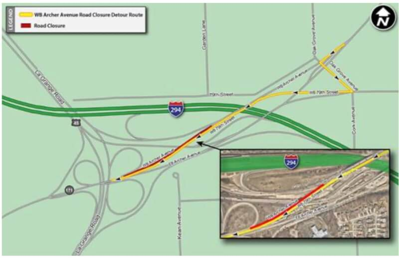 Construction on I-294 will cause delays
