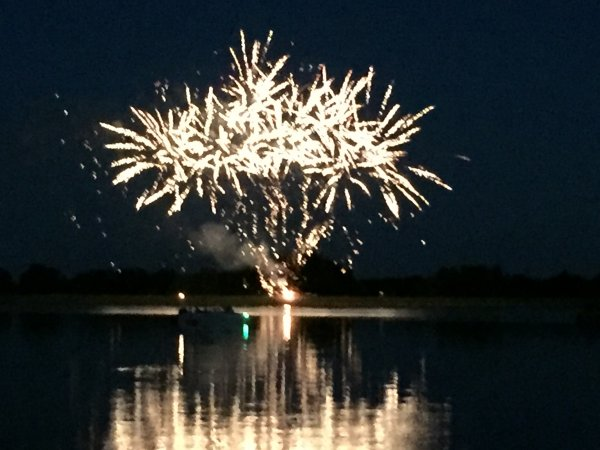 Fireworks display for the 4th of July. Photo courtesy of Ray Hanania
