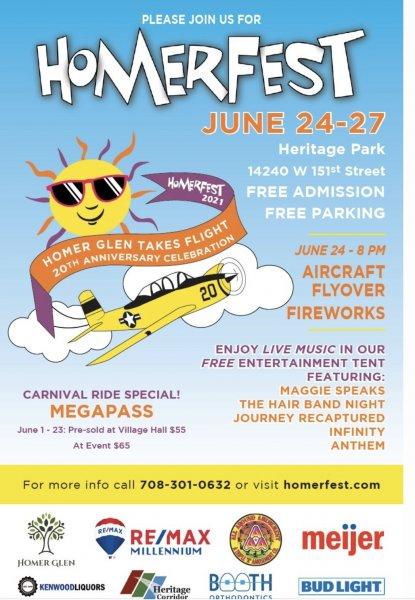 HomerFest Homer Glen June 2021 celebrations