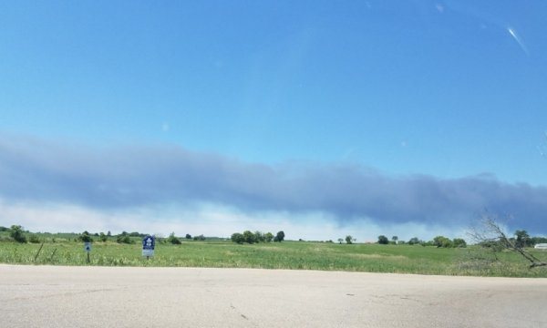 Massive fire at Rockton Chemical Plant in Winnebago County, June 14, 2021. Photo courtesy of Ray Hanania