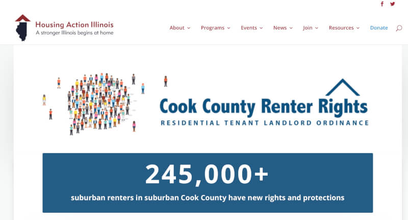 Cook County Renters Rights Coalition website