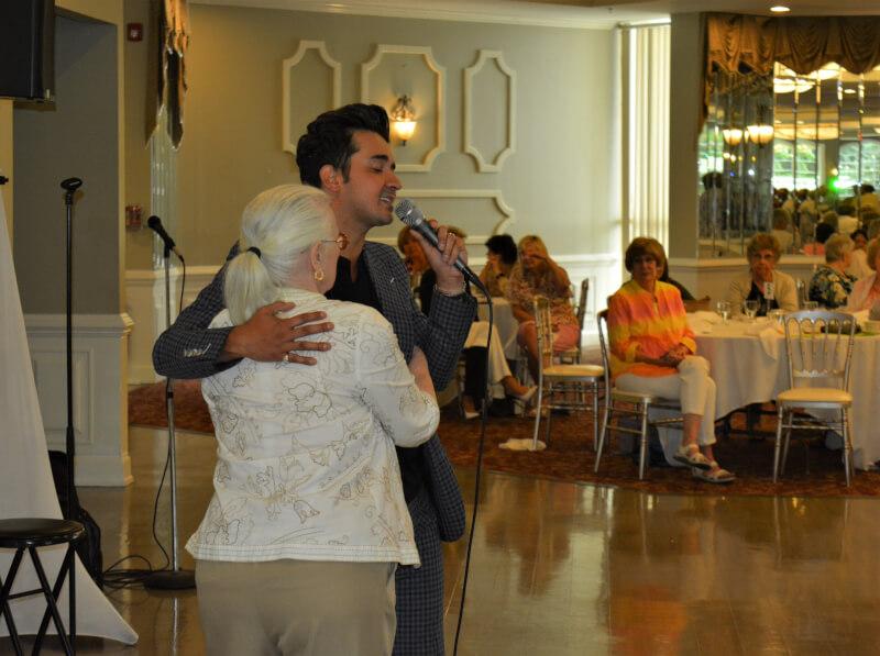 Blake Alexander entertains at Orland Township summer luncheon event