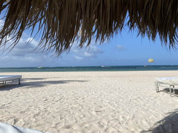 Beach view from the private beach area in front of the Ocean Front suites at the Grand Reserve Paradisus Palma Real. Photo courtesy of Ray Hanania