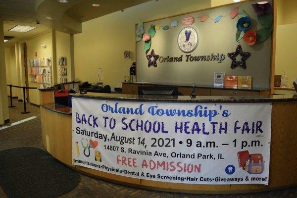 Orland Township Back to School Health Fair banner 2021